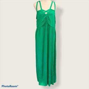 Lane Bryant Green Maxi Dress Size 14/16